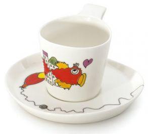 "Набор чашек для чая с блюдцами Berghoff ""Eclipse"" (2 пр.) 3705007 (0,24 л.)"